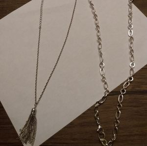 Origami owl and tassel necklace bundle